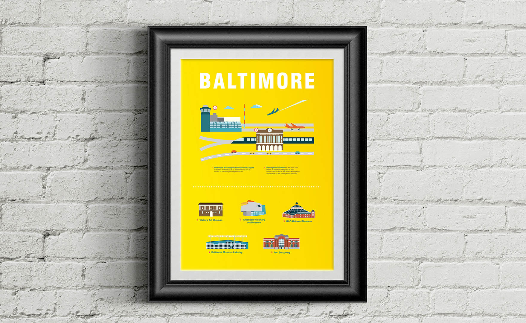 Baltimore Infographics Poster