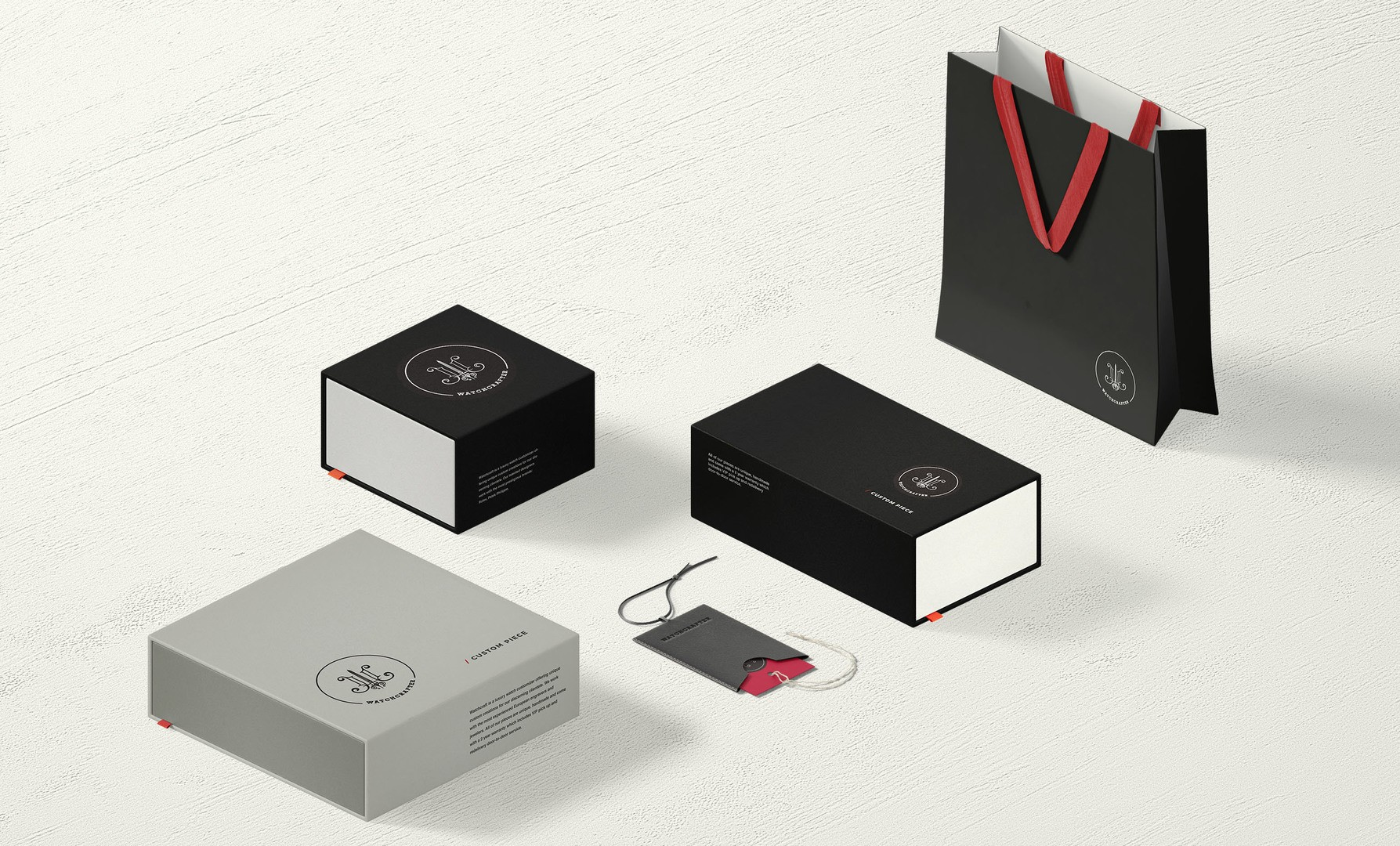 Luxury Watch Brand Packaging Design With Custom Boxes, Tags and Shopping Bag